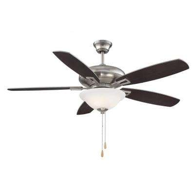 Agro 52 in. Satin Nickel Indoor Ceiling Fan