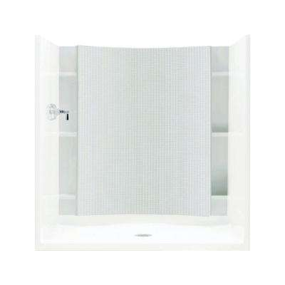 Accord 1-1/4 in. x 60 in. x 77 in. 1-Piece Direct-to-Stud Shower Back Wall in White