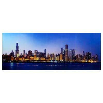 "24 in. x 63 in. ""Cityscapes and Architecture"" Tempered Glass Wall Art"