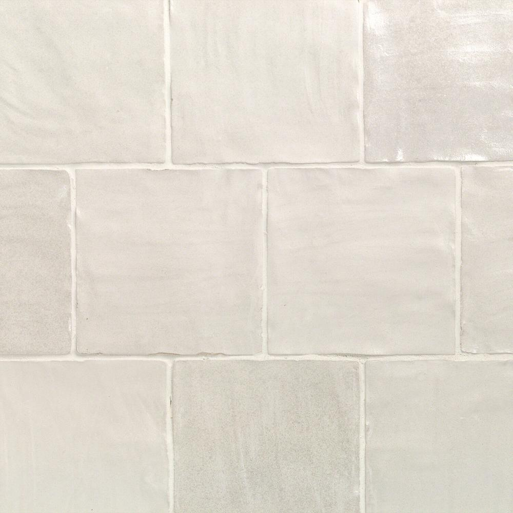 Ivy Hill Tile Amagansett White 4 In X 9mm Satin Ceramic Wall 5 38 Sq Ft Box