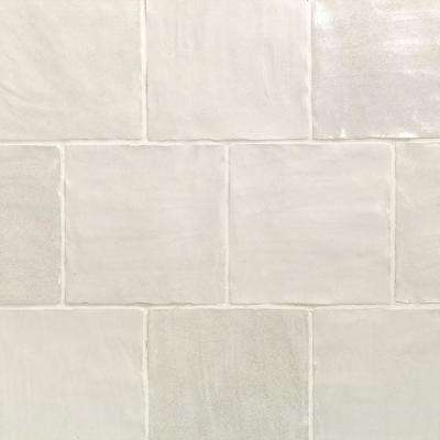 Amagansett White 4 In X 9mm Satin Ceramic Wall Tile 5 38