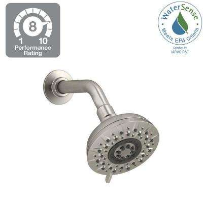 Radiate 5-Spray Multifunction 4.654 in. Showerhead in Vibrant Brushed Nickel