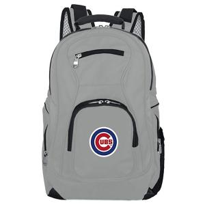 MLB Chicago Cubs 19 in. Gray Laptop Backpack