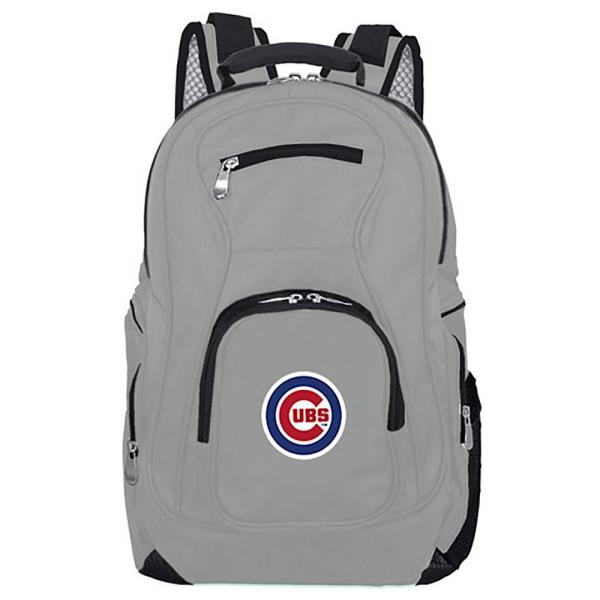 Mojo MLB Chicago Cubs 19 in. Gray Laptop Backpack