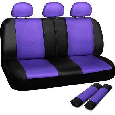 Polyurethane Bench Seat Cover in 21.5 in. L x  23 in. W x 31 in. H  Bench Seat Cover in Purple and Black