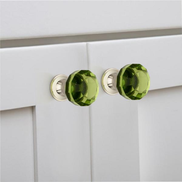 Mascot Hardware 1 1 4 In Menta Crystal Cabinet Knob Ck472 The Home Depot