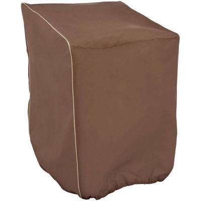 30 in. x 27 in. x 48 in. Brown Stacking Chair Cover