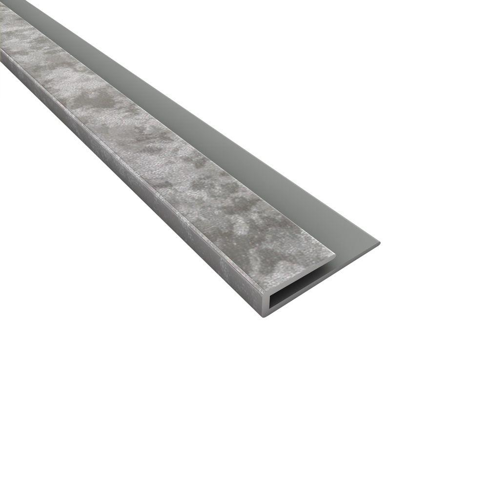 Fasade 4 ft. Large Profile J-Trim in Galvanized Steel