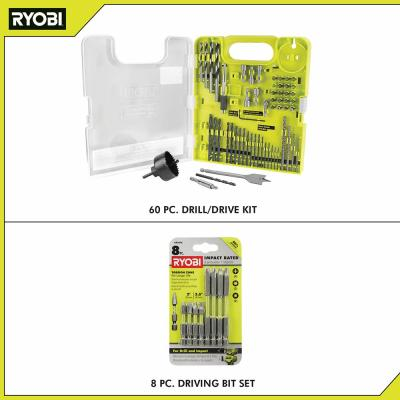 Multi-Material Drill and Drive Kit (60-Piece) with BONUS (8-Piece) Impact Rated Driving Kit
