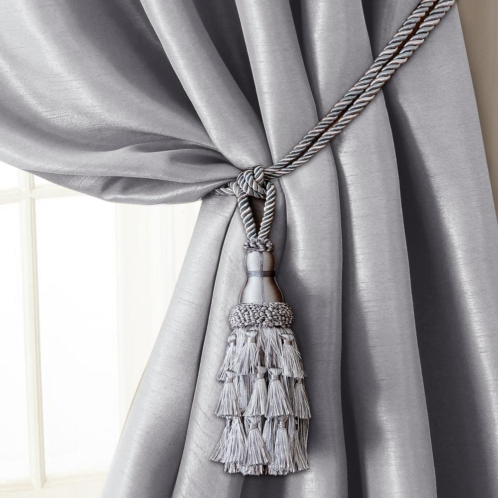 Charlotte 24 in. Tassel Tieback Rope Cord Window Curtain Accessories in