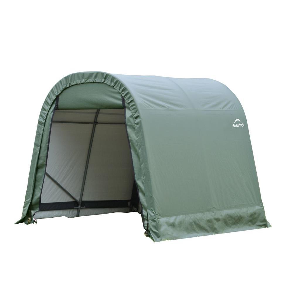 ShelterLogic 10 ft. x 16 ft. x 8 ft. Green PE Garage without Floor