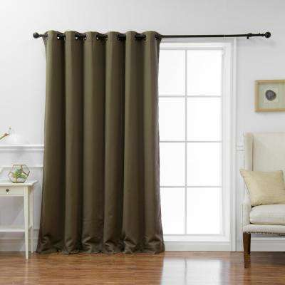 Wide Basic 80 in. W x 108 in. L Blackout Curtain in Olive