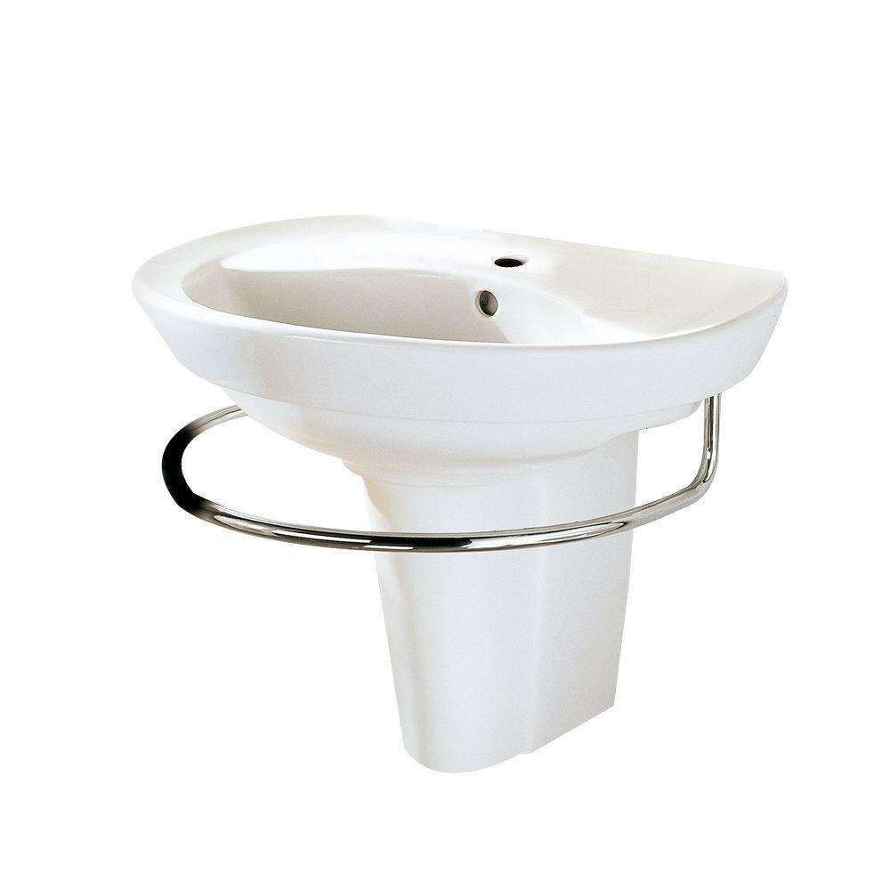 Merveilleux American Standard Ravenna Wall Mounted Pedestal Combo Bathroom Sink In White