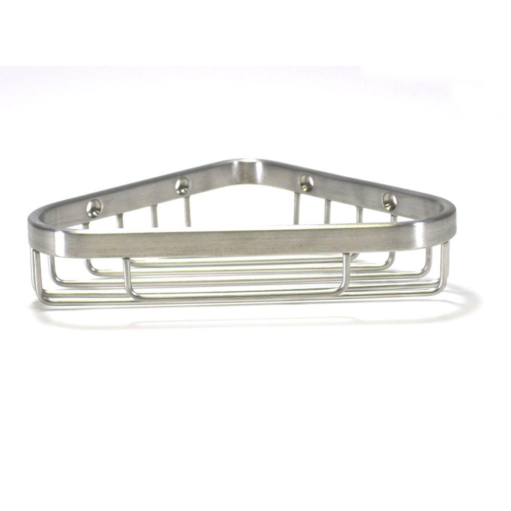 WingIts Master Series 6 in. Corner Basket in Satin Stainless Steel