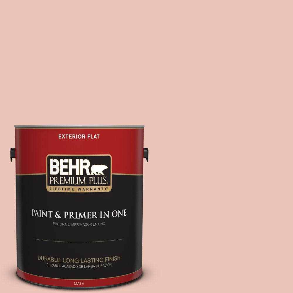 BEHR Premium Plus Home Decorators Collection 1-gal. #HDC-CT-14 Coral Coast Flat Exterior Paint