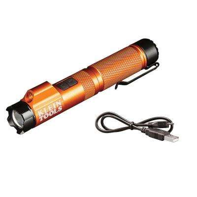 Rechargeable Focus Flashlight with Laser