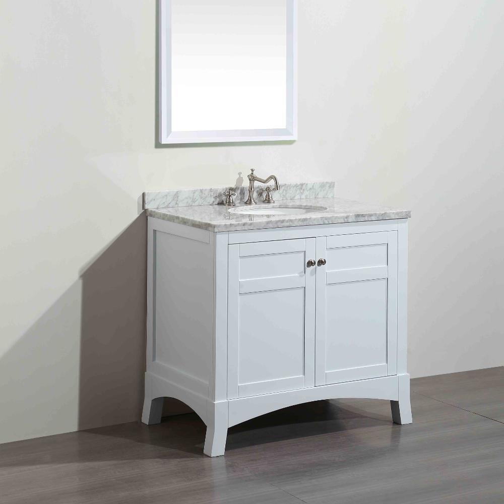 Eviva aberdeen 83 3 in w x 22 in d x 35 in h vanity in for Bathroom cabinets york