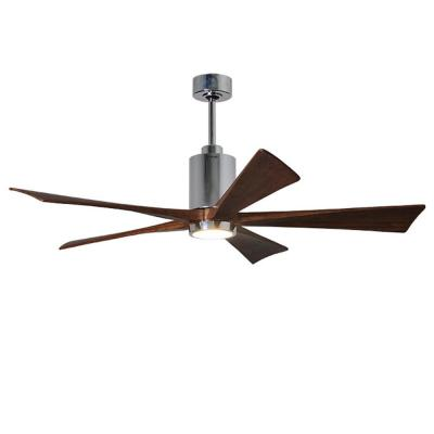 Patricia 60 in. LED Indoor/Outdoor Damp Polished Chrome Ceiling Fan with Light with Remote Control and Wall Control