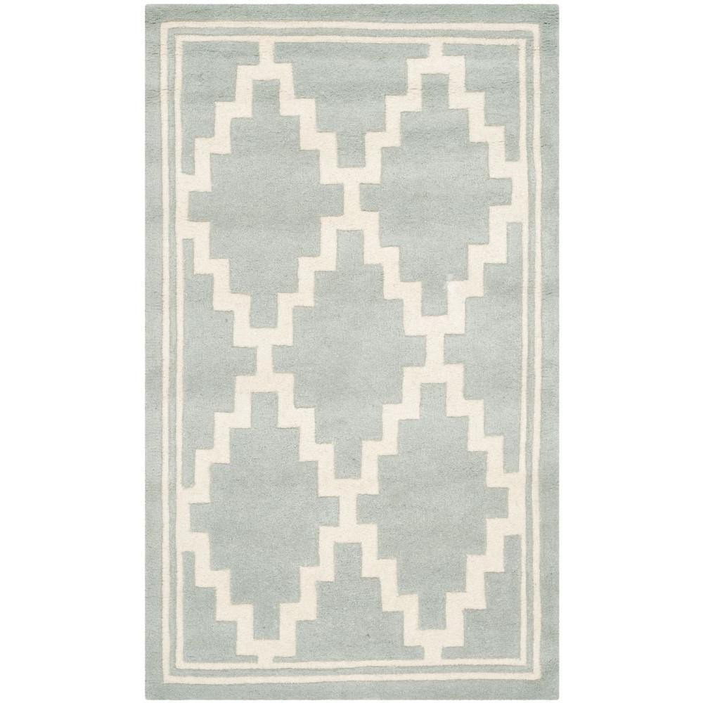 Safavieh Chatham Grey/Ivory 3 ft. x 5 ft. Area Rug