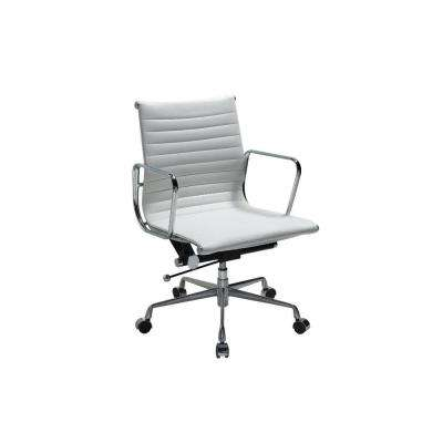 Charlie White Leather Office Chair