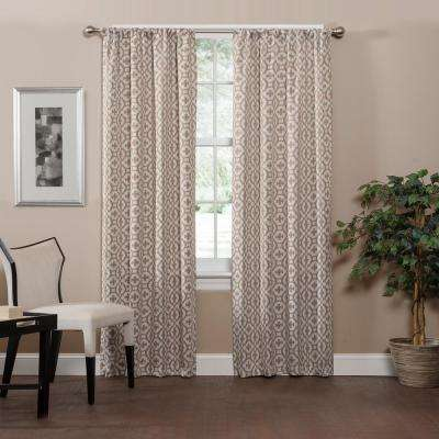 Radnor 63 in L Almond Paloma Curtain, (1-Pack).