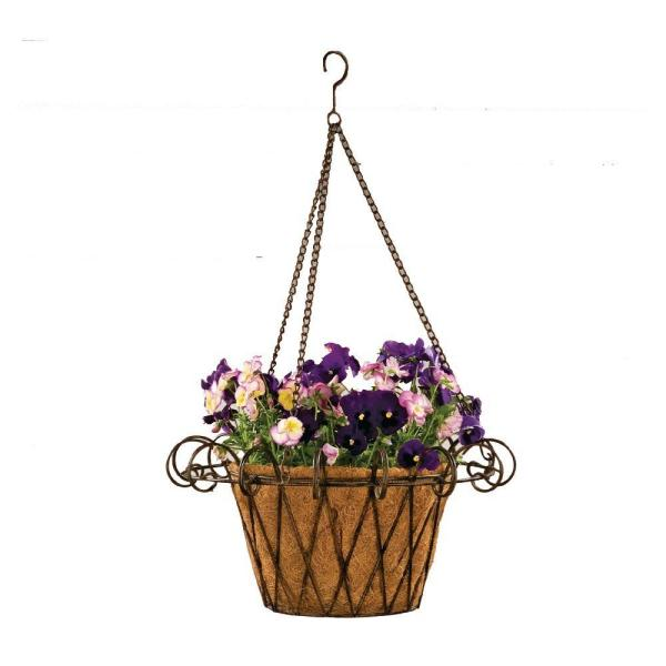 17 in. Metal Flower Basket with Coco Liner