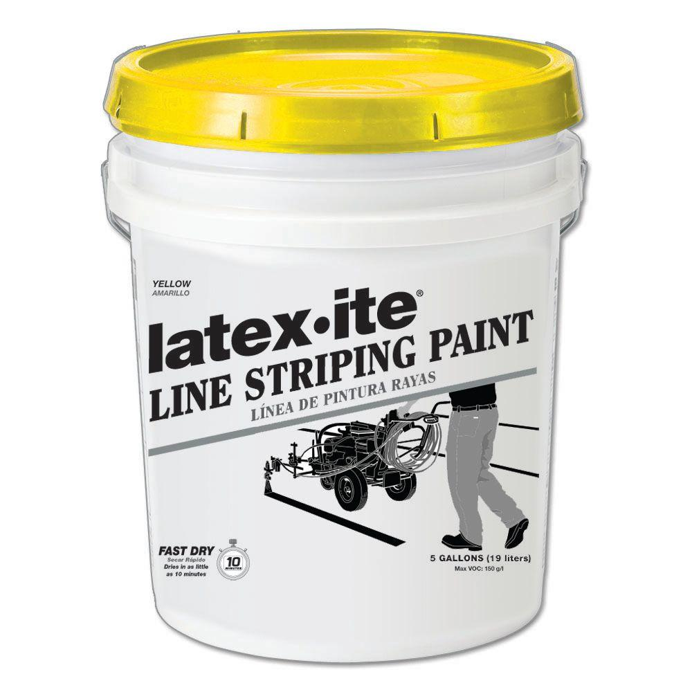 Latex Ite 5 Gal Yellow Line Striping Paint 5040 The