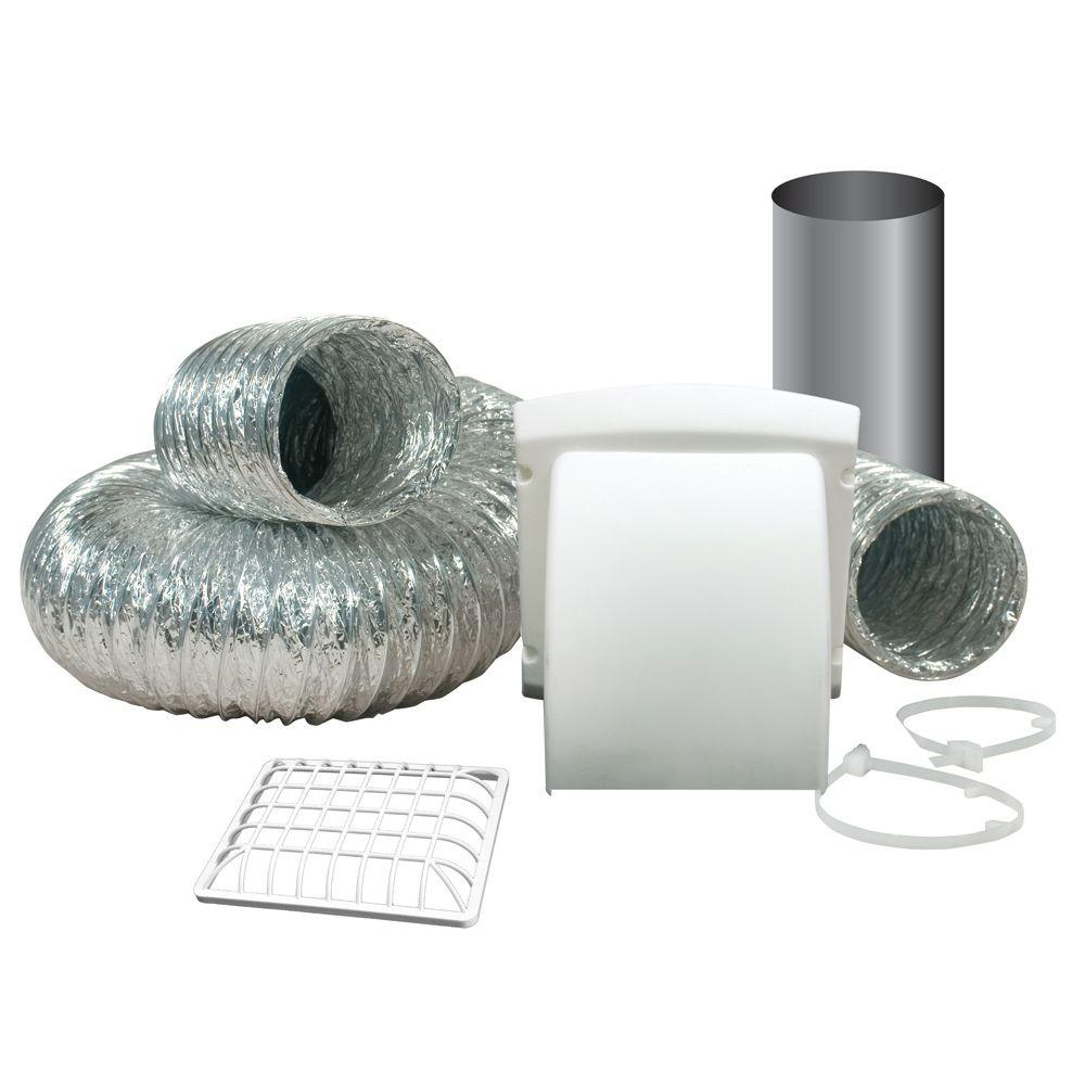Everbilt Wide Mouth Dryer Vent Kit with 4 in. x 8 ft. Aluminum Dryer Duct