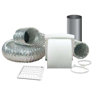 Wide Mouth Dryer Vent Kit with 4 in. x 8 ft. Aluminum Dryer Duct