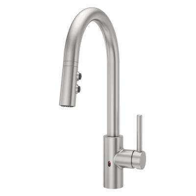 Stellen Single-Handle Electronic Pull-Down Sprayer Kitchen Faucet with React Technology in Stainless Steel