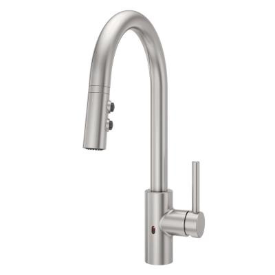 Stellen Single-Handle Electronic Pull-Down Sprayer Kitchen Faucet with React Touchless Technology in Stainless Steel