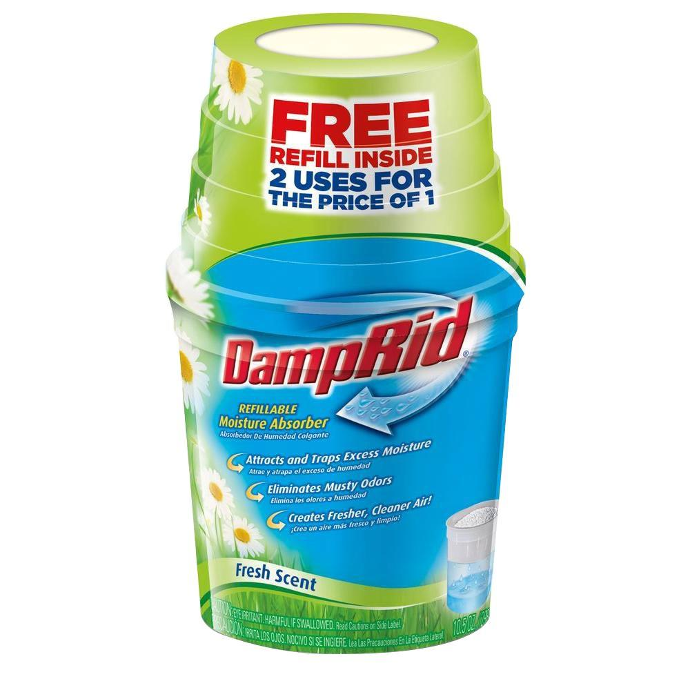 DampRid 10.5 oz. Fresh Scent Refillable Moisture Absorber with Free Refill