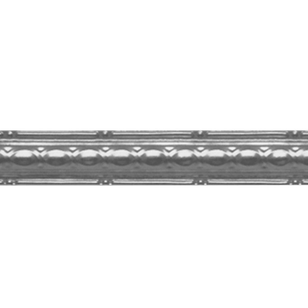 Shanko 2-1/2 in. x 4 ft. Nail-up/Direct Application Tin C...