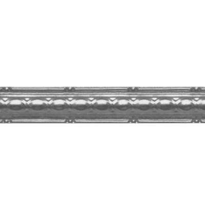 2-1/2 in. x 4 ft. Nail-up/Direct Application Tin Ceiling Cornice in Bare Steel (6-Pack)
