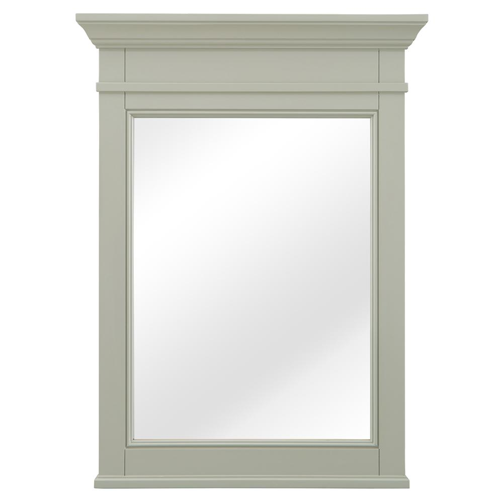Home Decorators Collection Braylee 24 in. W x 32 in. H Single Framed Wall Mirror in Sage Green