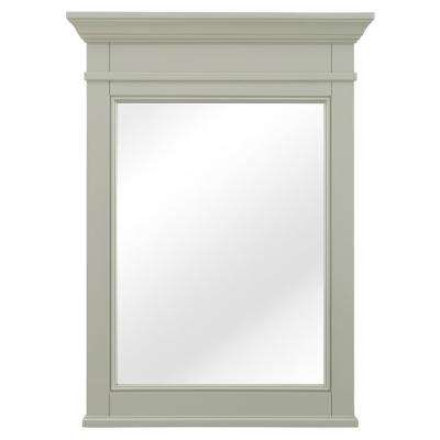Braylee 24 in. W x 32 in. H Single Framed Wall Mirror in Sage Green