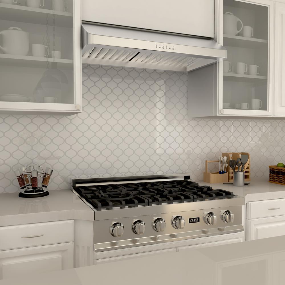 Zline Kitchen And Bath Zline 48 In Under Cabinet Range Hood In Stainless Steel 623 48 623 48 The Home Depot
