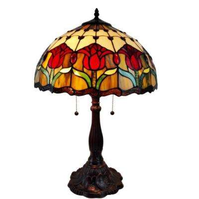 24 in. Tiffany Style Tulips Table Lamp
