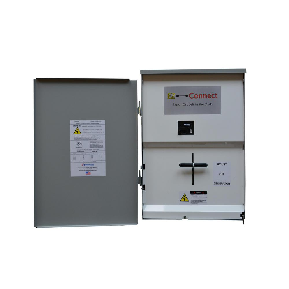 EZ-Connect Manual Transfer Switch, Service Entrance Rated with 150 Amp Main  Disconnect