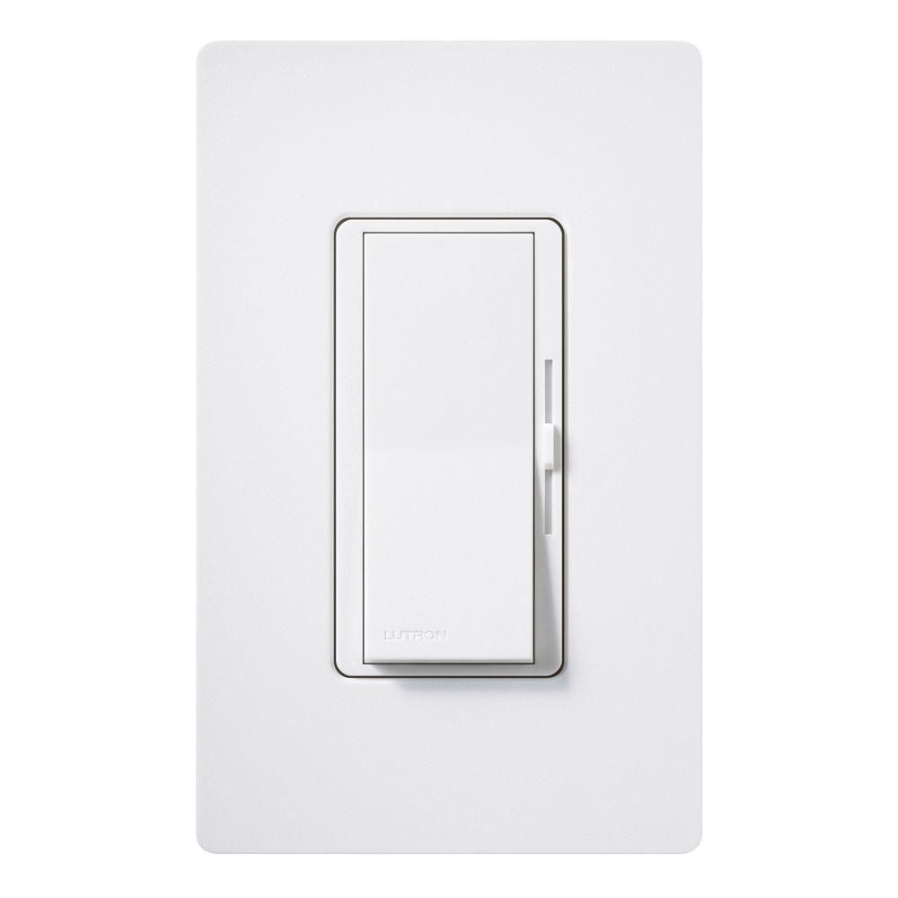 Diva Magnetic Low Voltage Dimmer, 450-Watt, Single-Pole or 3-Way, Snow