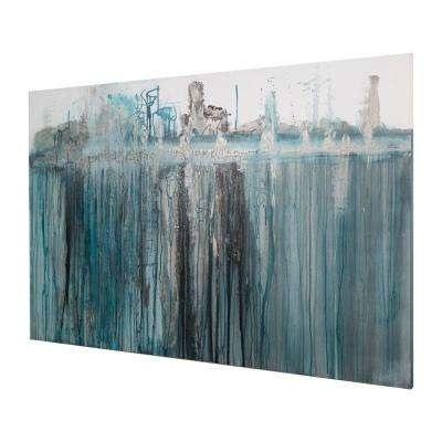 """40 in. x 60 in. """"Heartic"""" by """"Ashleigh Fleenor"""" Hand Painted Framed Canvas Wall Art"""