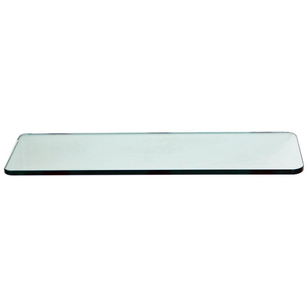 floating glass shelves 3 8 in rectangle glass corner shelf price rh homedepot com floating glass shelves brackets floating glass shelves walmart