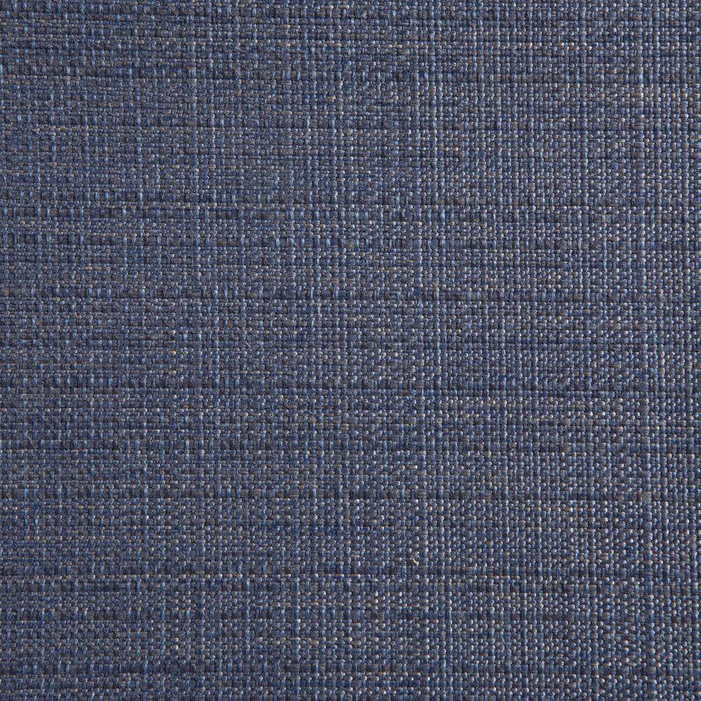 Hampton Bay Woodbury Sky Blue Patio Ottoman Slipcover (2-Pack)