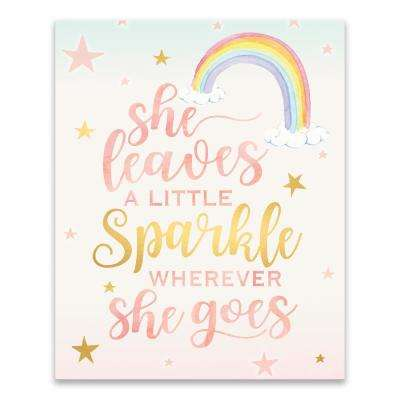"""She Leaves A Little Sparkle Wherever She Goes""  by Lot26 Studio Printed Canvas Wall Art"