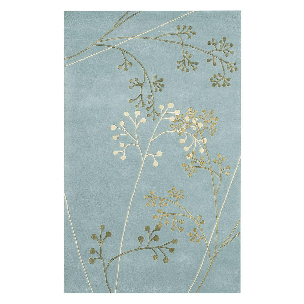 Home decorators collection sakura light blue 2 ft x 3 ft for Home decorators rugs blue