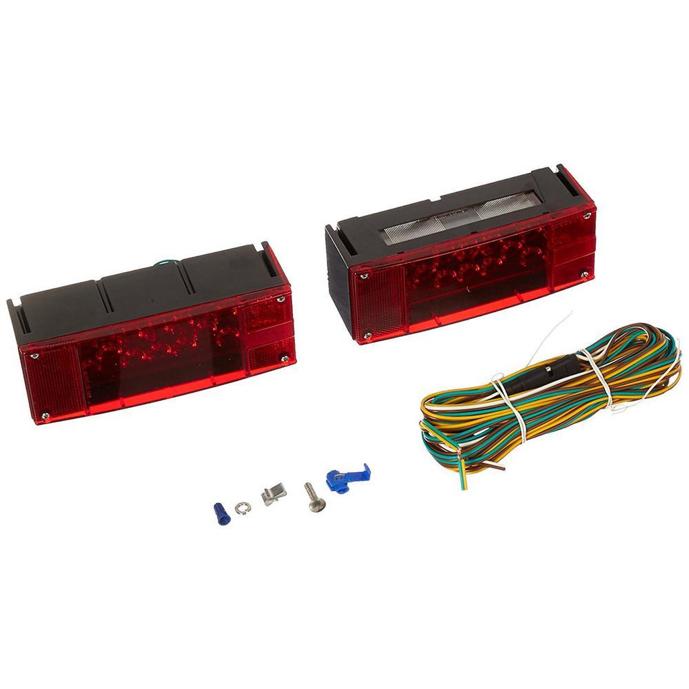 12-Volt LED Low Profile Submersible Rectangular Trailer Light Kit