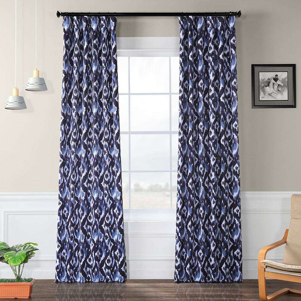 Black Room Darkening Curtains.Exclusive Fabrics Furnishings Bukhara Blue Blackout Room Darkening Curtain 50 In W X 120 In L