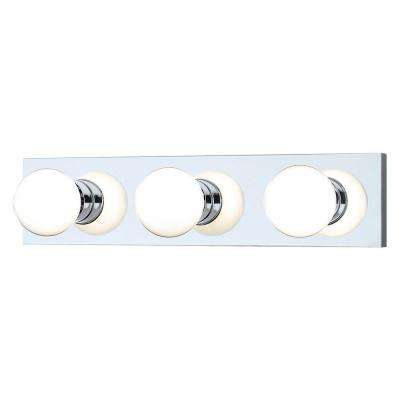 3-Light Chrome Wall Vanity Light