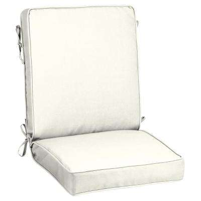 Sunbrella Canvas White Outdoor Dining Chair Cushion
