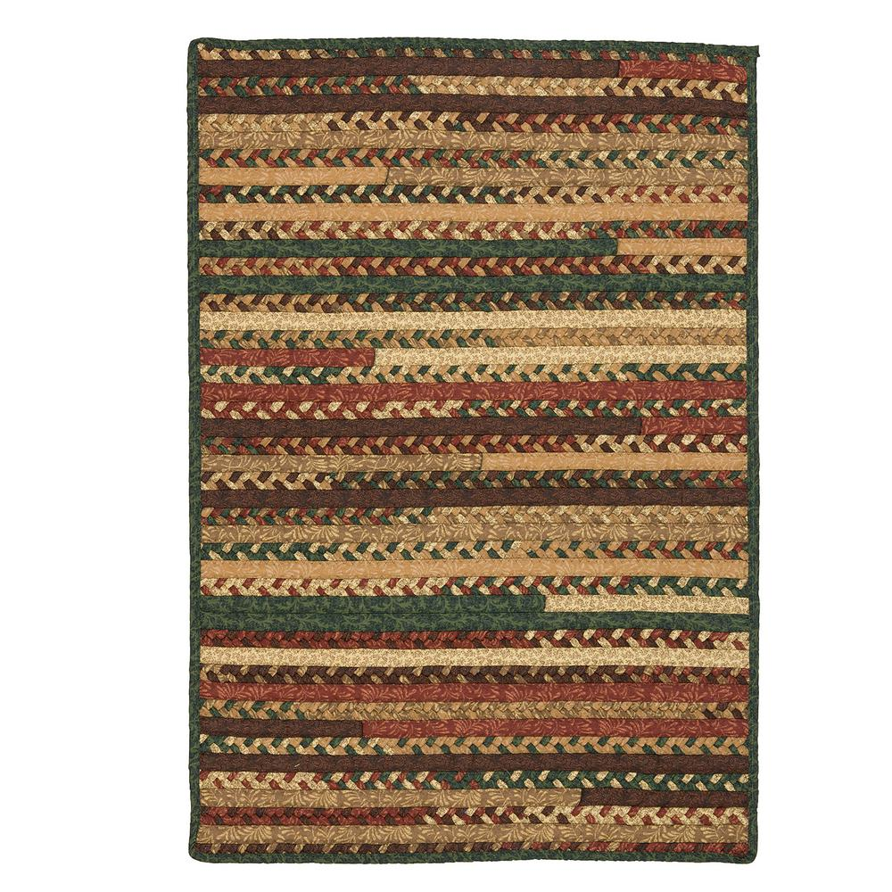 Hearth Rectangular Fall 3 ft. x 3 ft. Braided Area Rug